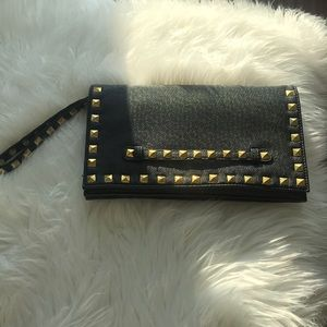 Leather Valentino style clutch
